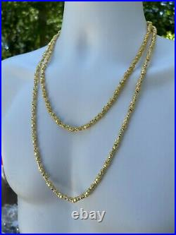 14k Gold Over Solid 925 Sterling Silver Nugget Link Chain Necklace 5mm 18-30