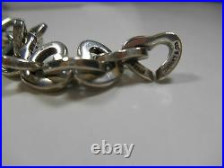 Authentic Tiffany & Co. Sterling Silver & 18K Gold Heart Links Necklace 16