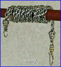 Barbara Bixby Sterling And 18k Yellow Gold Rope Chain Necklace 20 L/ 17.9 grs