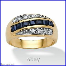 Blue Sapphire 18k Gold Over Sterling Silver Ring Size 7 8 910 11 12 13 14 15 16