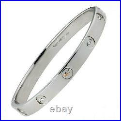Clogau Silver Bangle Sterling 6.5'' 925 Tree of Life Insignia Welsh Rose Gold