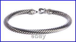 DAVID YURMAN Women's Cable Buckle Bracelet with Gold 5mm $495 NEW