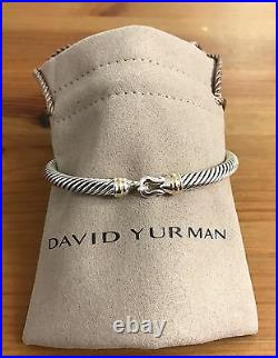 DY Cable Buckle Bracelet SMALL S + Gold 5mm 925 Sterling silver Spec 4 Client