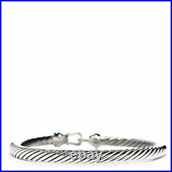 David Yurman Cable Buckle Bracelet With Gold 5mm 925 Sterling silver M