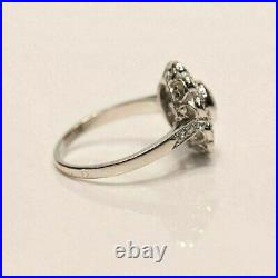 Engagement Wedding Halo Daisy Cluster Ring 14K White Gold Over 2.41 Ct Diamond