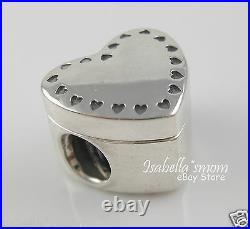 GIFT FROM THE HEART Genuine PANDORA Silver/14K GOLD Valentine RING Box CHARM NEW