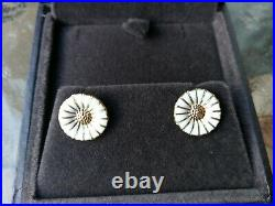 Genuine Georg Jensen daisy earring studs sterling silver gold plated