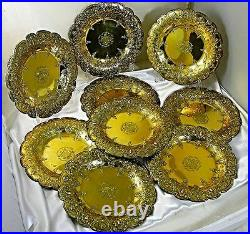 Important Set Of Garrard Gilt Sterling Silver Plates The First Jewish Baronet