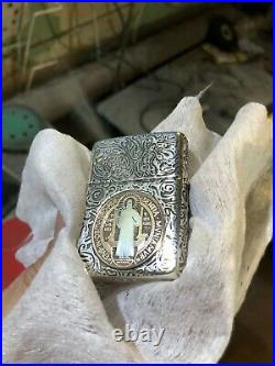 Lighter Armor 27 Sterling custom Constantine with GOLD/SILVER coin