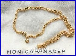 Monica Vinader Vintage Gold Vermeil necklace 17 inch chunky chain RRP170