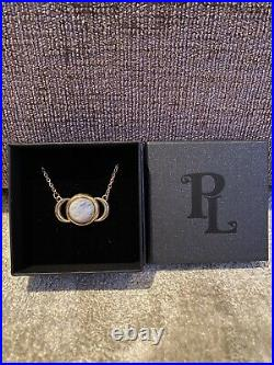 Pamela Love Moon Necklace (Gold With Moonstone)