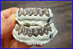 S. Silver or 10K Solid Gold Custom Made 2 Tone Sunburst Grill Grillz