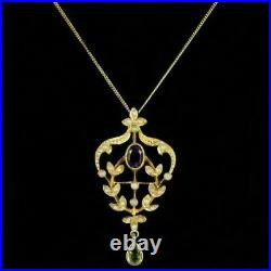 Suffragette Pendant Necklace Amethyst Opal Peridot Silver 18ct Gold Gilt