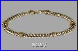 Vintage Tiffany & Co 18ct Gold & Silver Chain Necklace Heavy Curb Link 120 grams